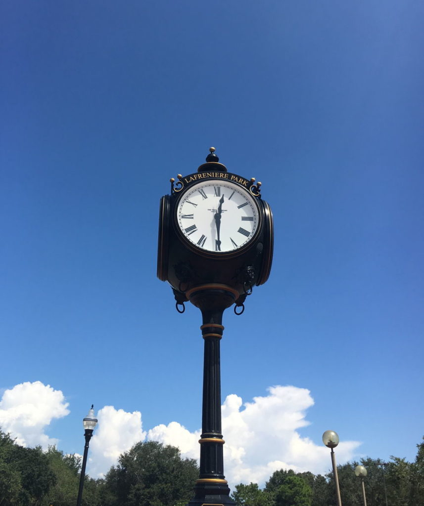 Lafreniere Park clock - Jefferson Parish Psychiatrist - Kramer Psychiatric Services - Metairie, Louisiana