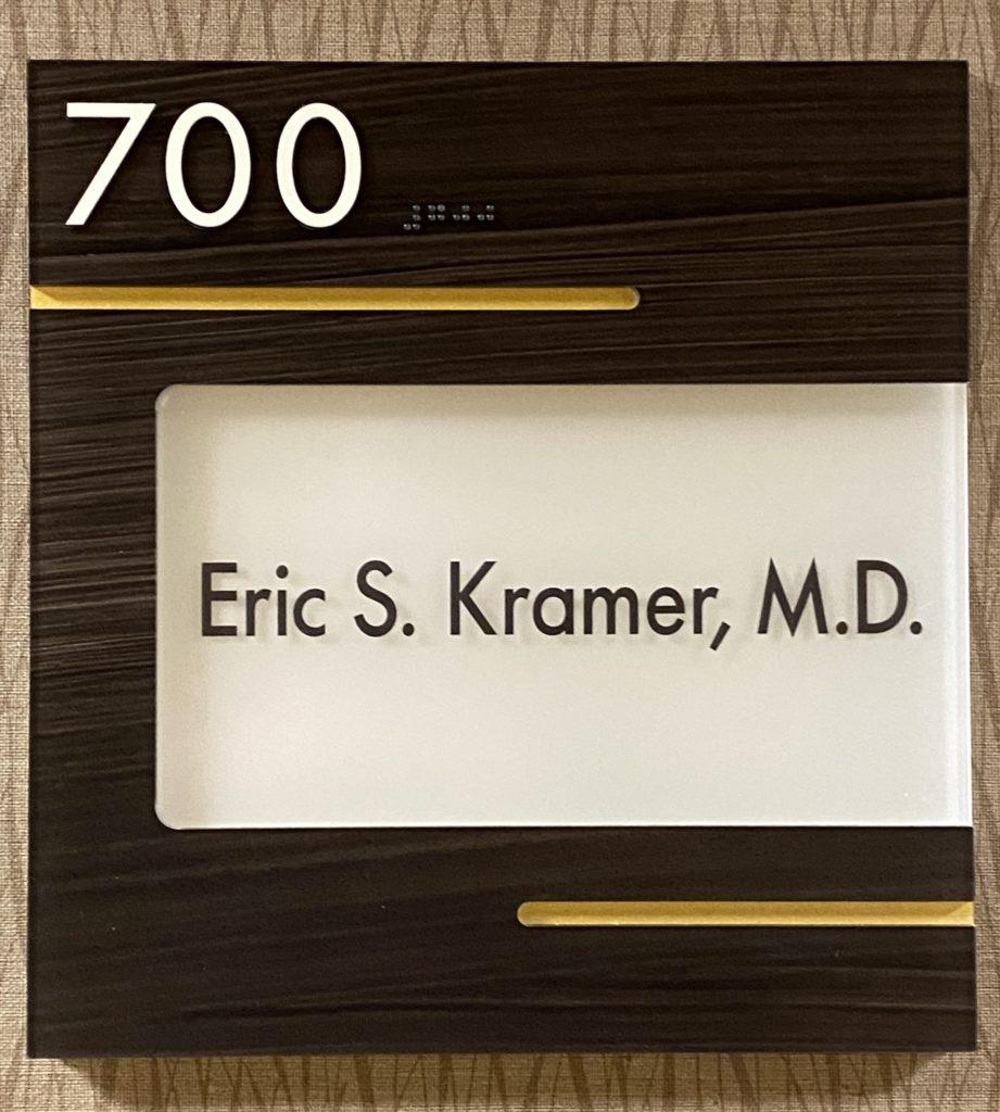 Suite sign 3445 N Causeway - Kramer Psychiatric Services - Greater New Orleans Psychiatrist - Metairie, LA
