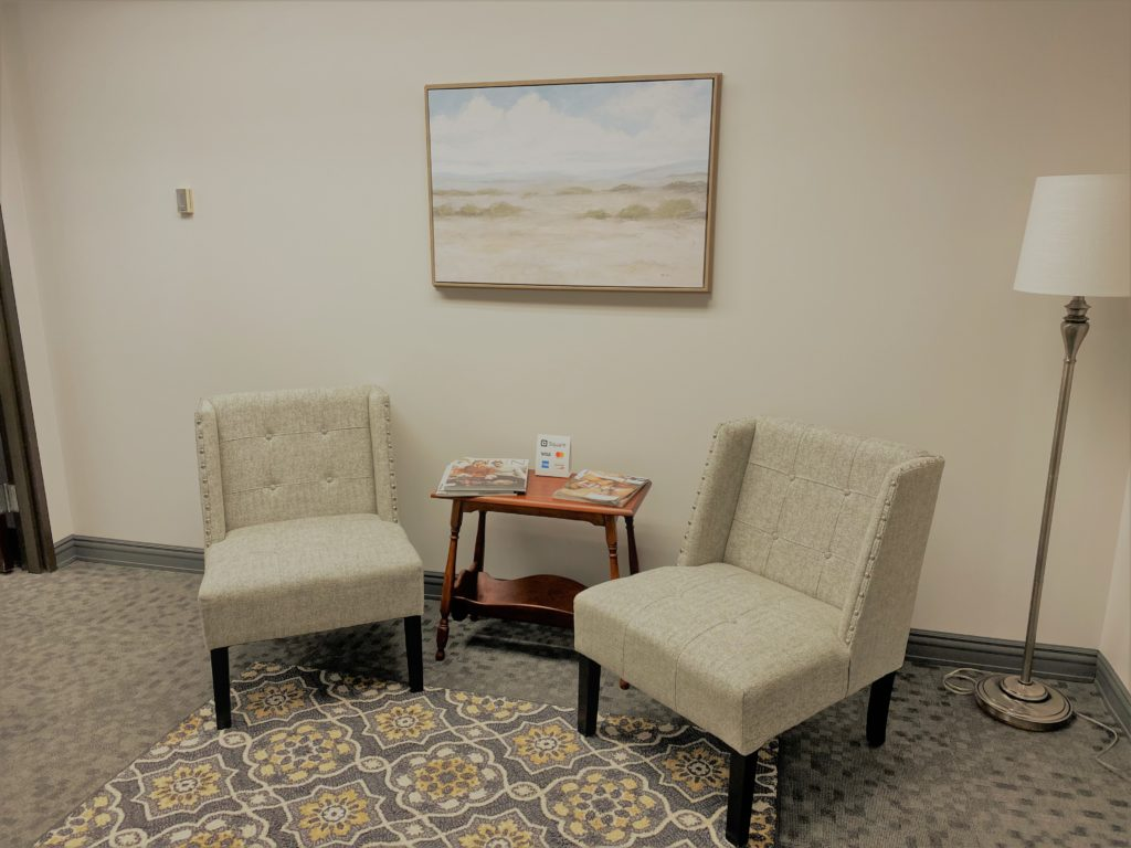 Office waiting room - 3445 N. Causeway Blvd, Metairie, Louisiana 70002 - Kramer Psychiatric Services - Greater New Orleans Psychiatrist